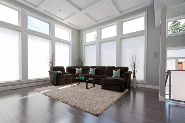 Rayn Properties | Levista Living room seating area with a back drop of large windows